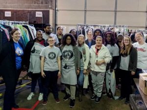 AmeriCorps voluteers give back on the MLK Day of Service