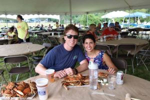 Couple enjoying crabs at Crab Fest 2016
