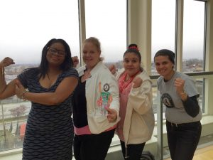 Supporters of Girls on the Run after school program