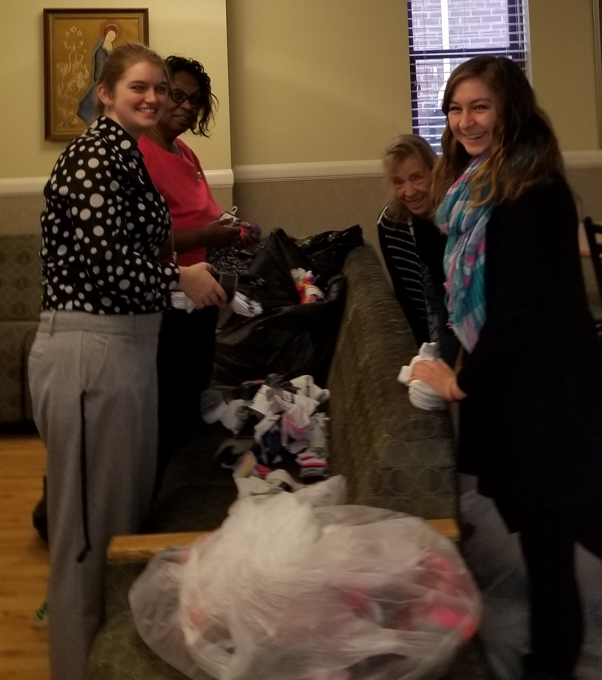 Jordan McCutcheon led her middle school in a sock donation drive