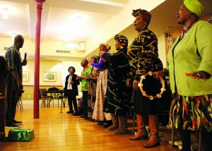 staff embrace traditional African heritage
